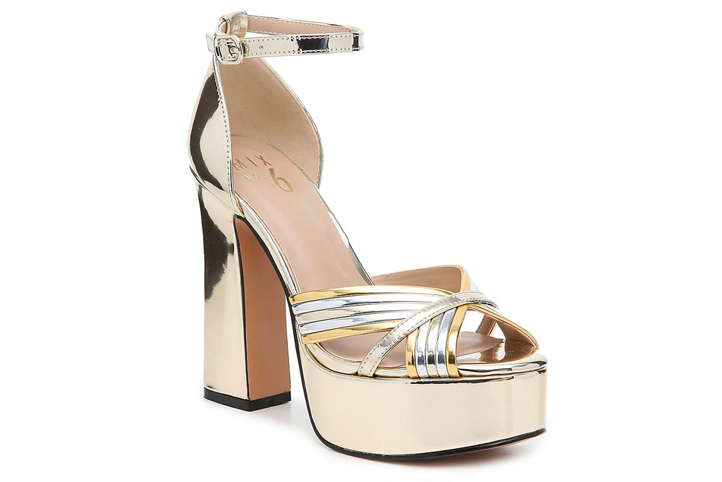 mix no 6,metallic, sandals, gold, platform, heel