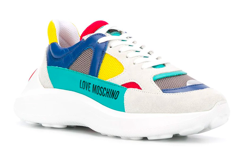 moschino, love, chunky, platform colorful