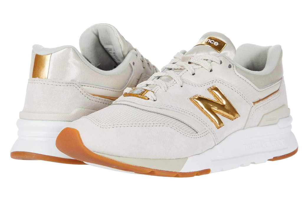 new balance, sneakers, gold, white, n, 997h