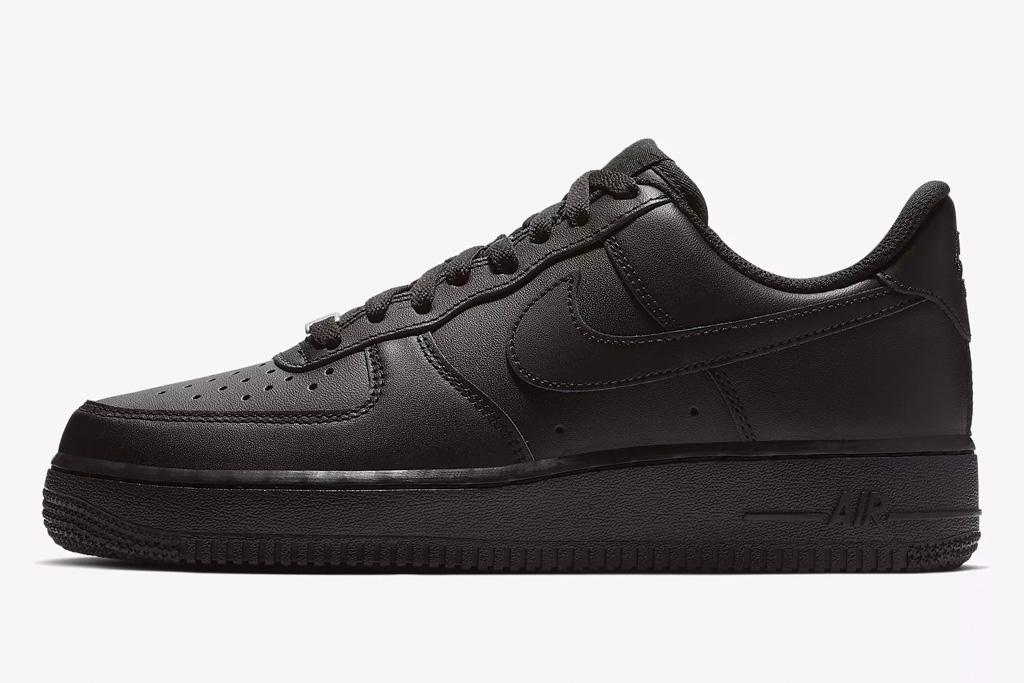 nike, air force 1, black, sneakers, '07