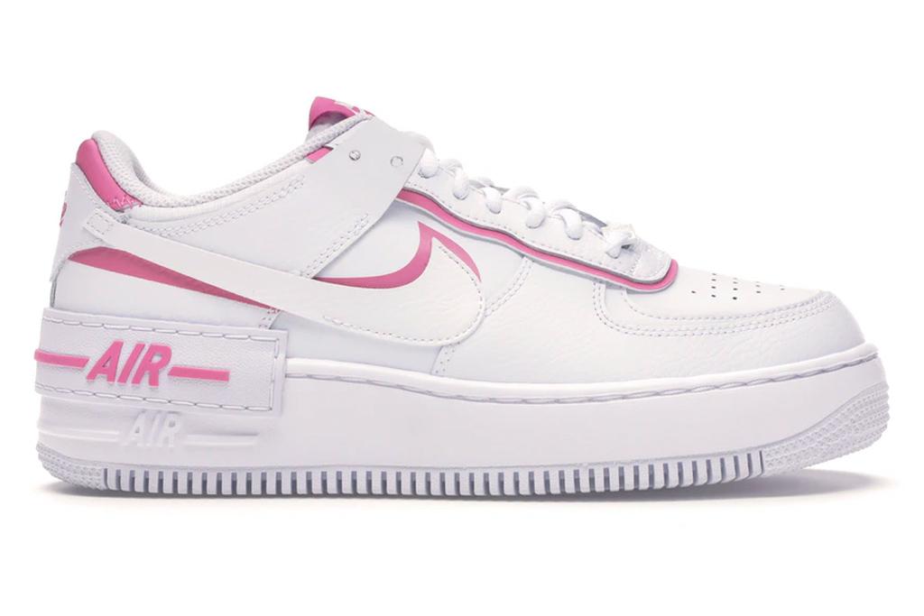 nike, air force 1, shadow, sneakers, pink