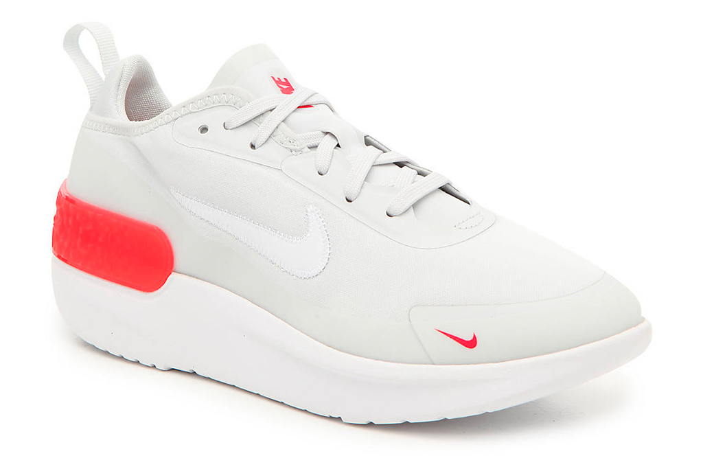 sneakers, red, white, gray, nike