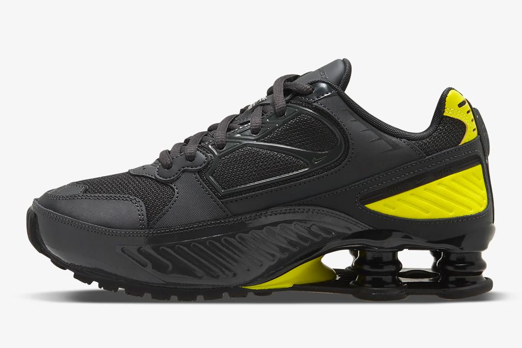 nike, black sneakers, shox, chunky