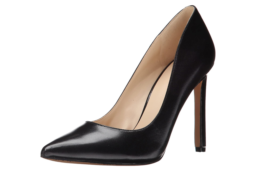 nine west, pumps, black