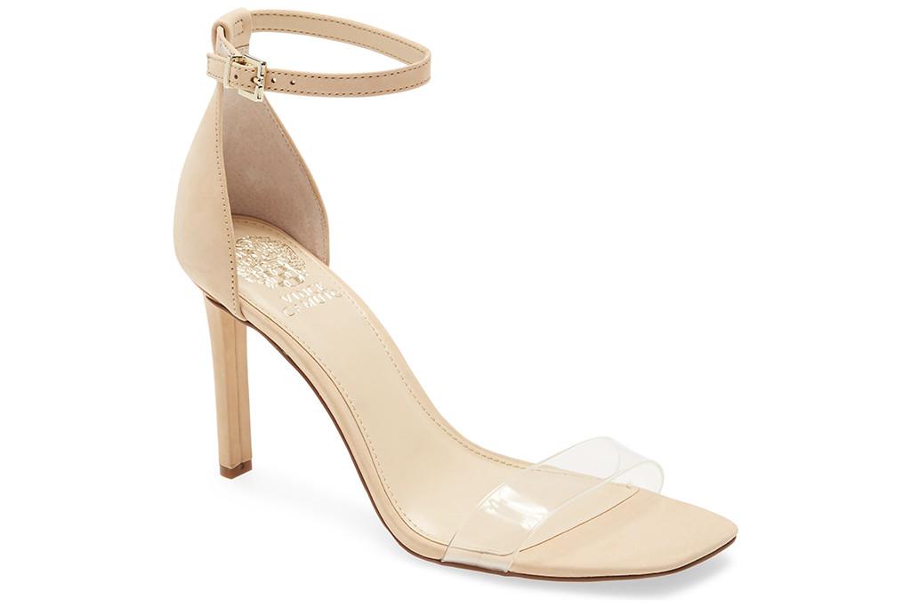 nude sandal, vince camuto, nude sandal trend