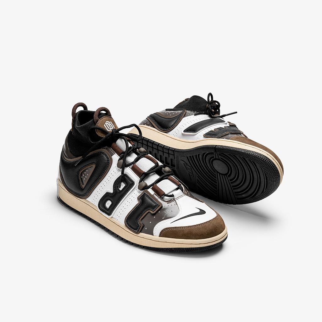 Odell Beckham Jr.x Nike Air More Uptempo x Travis Scott Air Jordan 1 High Shoe Surgeon
