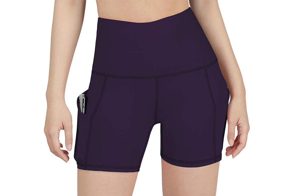 yoga shorts, best yoga shorts for women, biker shorts, shorts, amazon, ododos