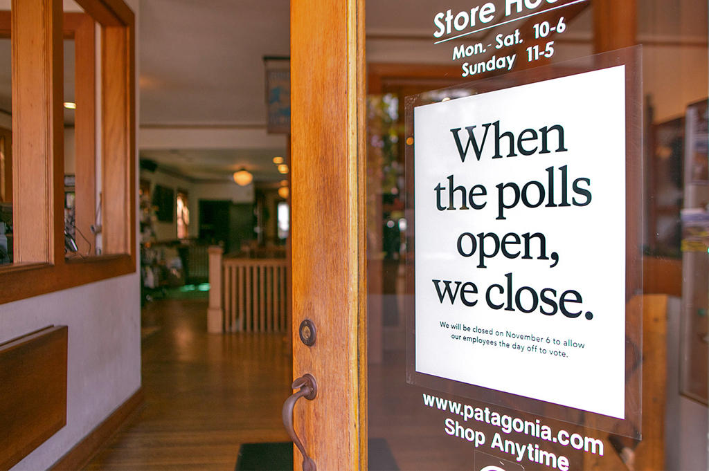 Patagonia Store Closed Election Day