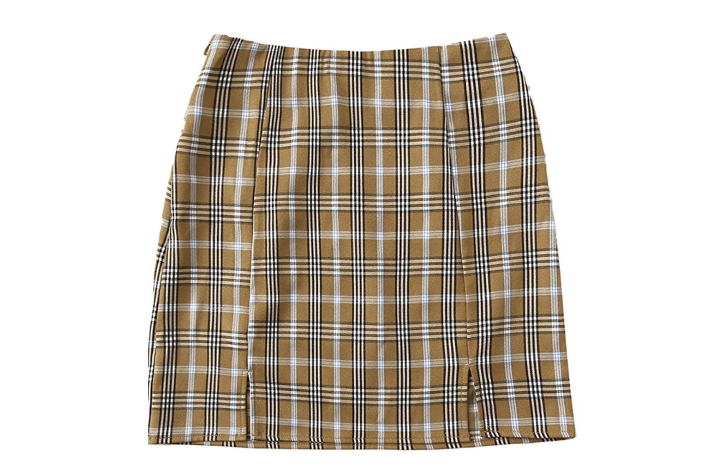 plaid skirt, mini skirt, what to wear with dr. martens