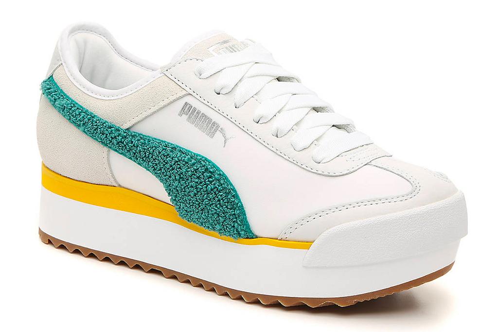 puma, yellow, green, white, sneakers