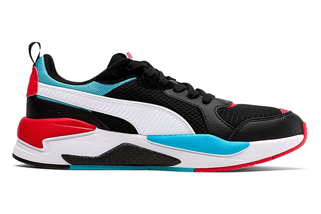 puma, sneakers, x-ray, black, white, red, blue