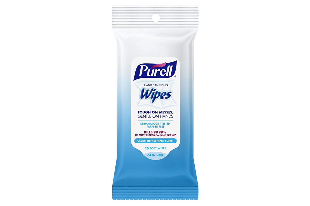 sanitizing wipes, travel, on the go, travel pack, small, wipes, hand sanitizing, shop