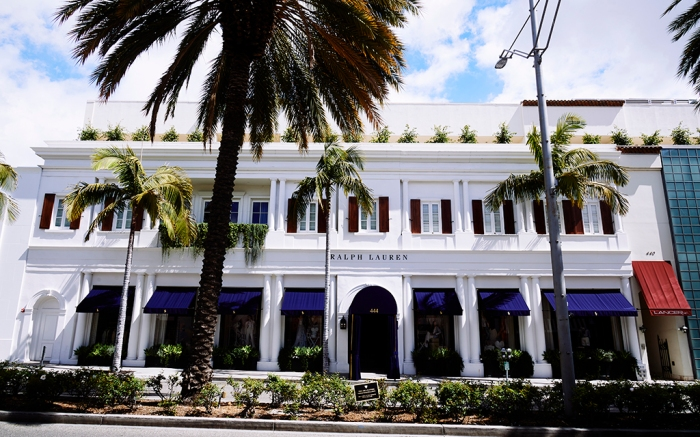 Ralph Lauren on Rodeo Drive in Beverly Hills, California photographed on March 25, 2020. Photo by Michael Buckner/WWD