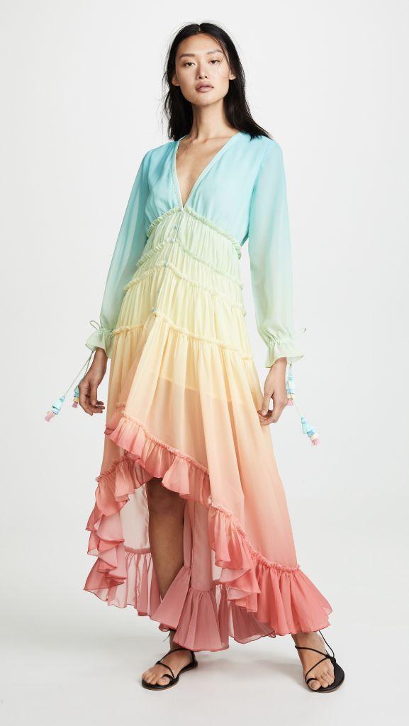 rainbow dress, womens summer dress, mom and me fashion, mother daughter fashion, eva chen