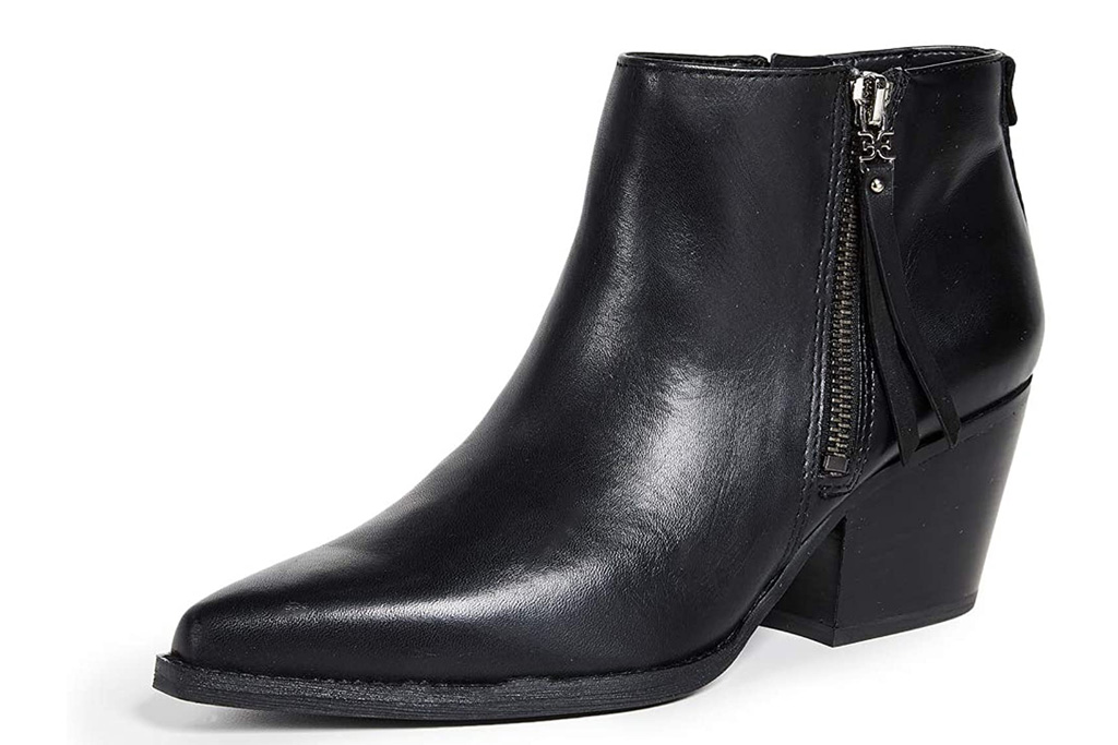 sam edelman, black boots, pointed toe, boots