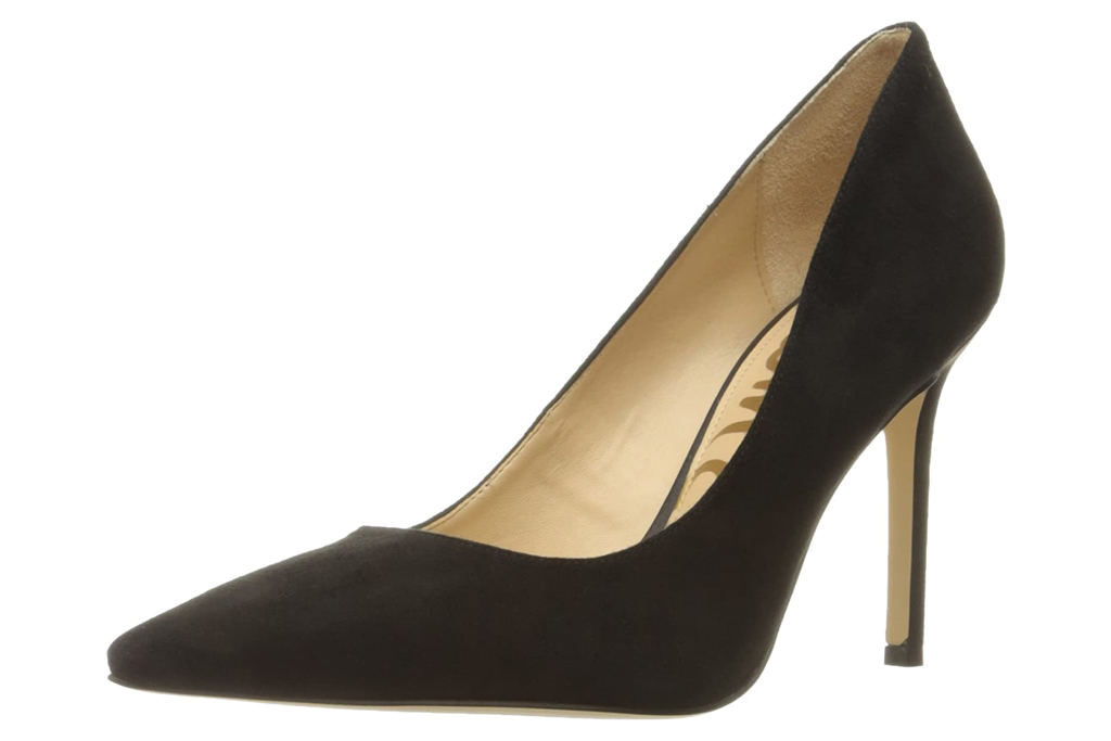 black pumps, suede, heels, sam edelman