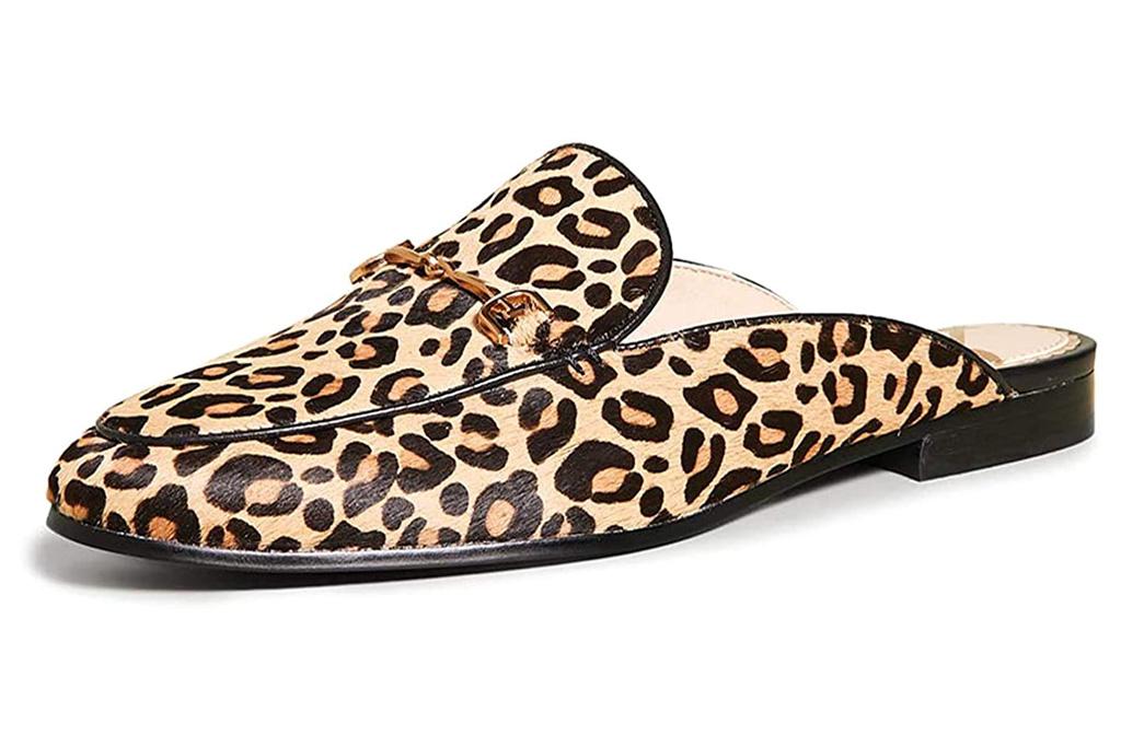 cheetah, flat, mule, shoes, sam edelman
