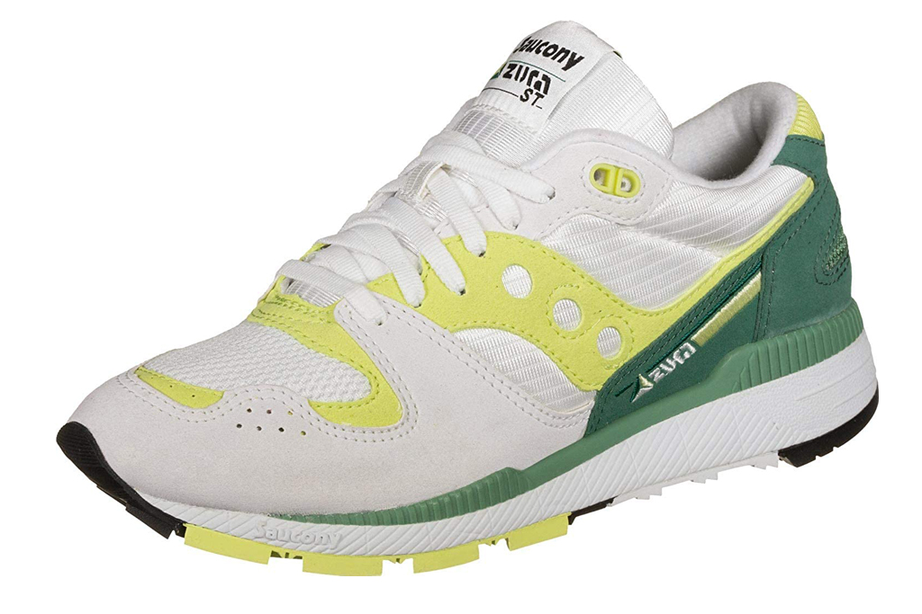 saucony, yellow, white, green, sneakers