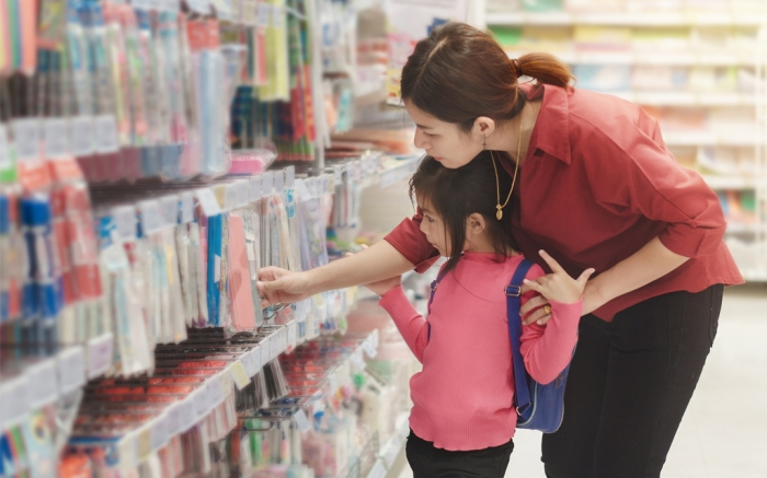 Back to School Shopping Kids Family