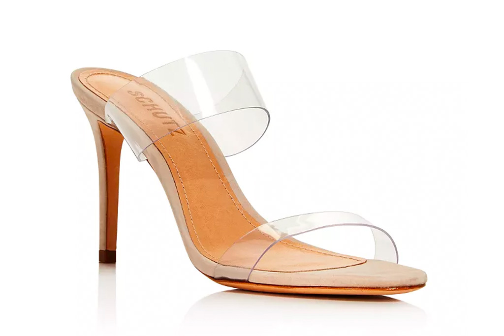 schutz, pvc, heels, sandals, clear