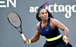 Serena Williams prepares to return a