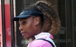 serena williams, style, visor, jacket, tennis,