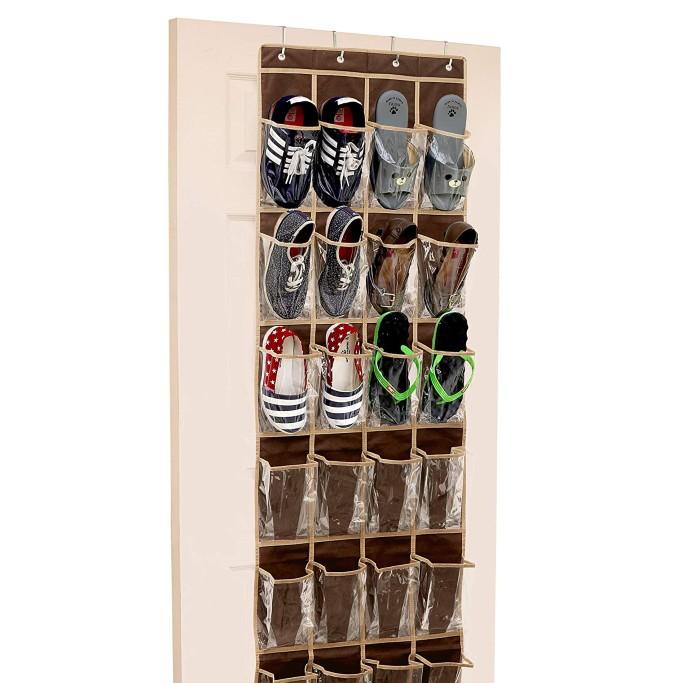 Simple Houseware Over The Door Hanging Shoe Organizer