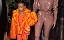 Kim & Kourtney Kardashian Are Seen Arriving At Ferdi Restaurant In Paris With Their Children, North West And Penelope Disick