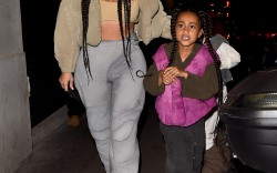 Kim Kardashian Arrives At The Kanye West After Party With Daughter North West And Sister Kourtney Kardashian In Paris