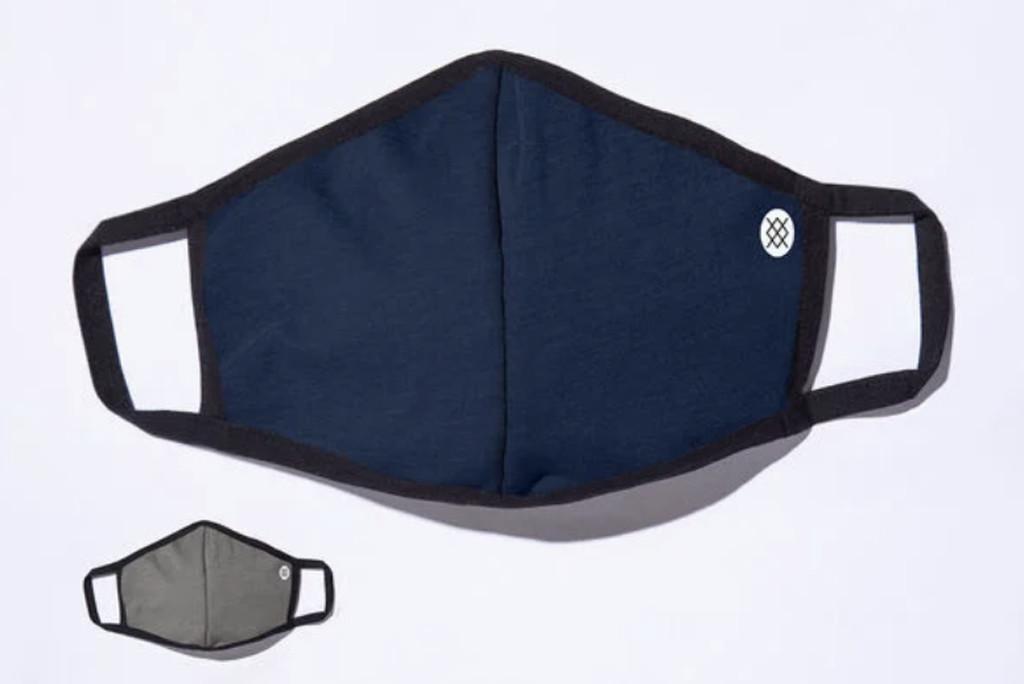 stance face mask, soft face mask, navy face mask