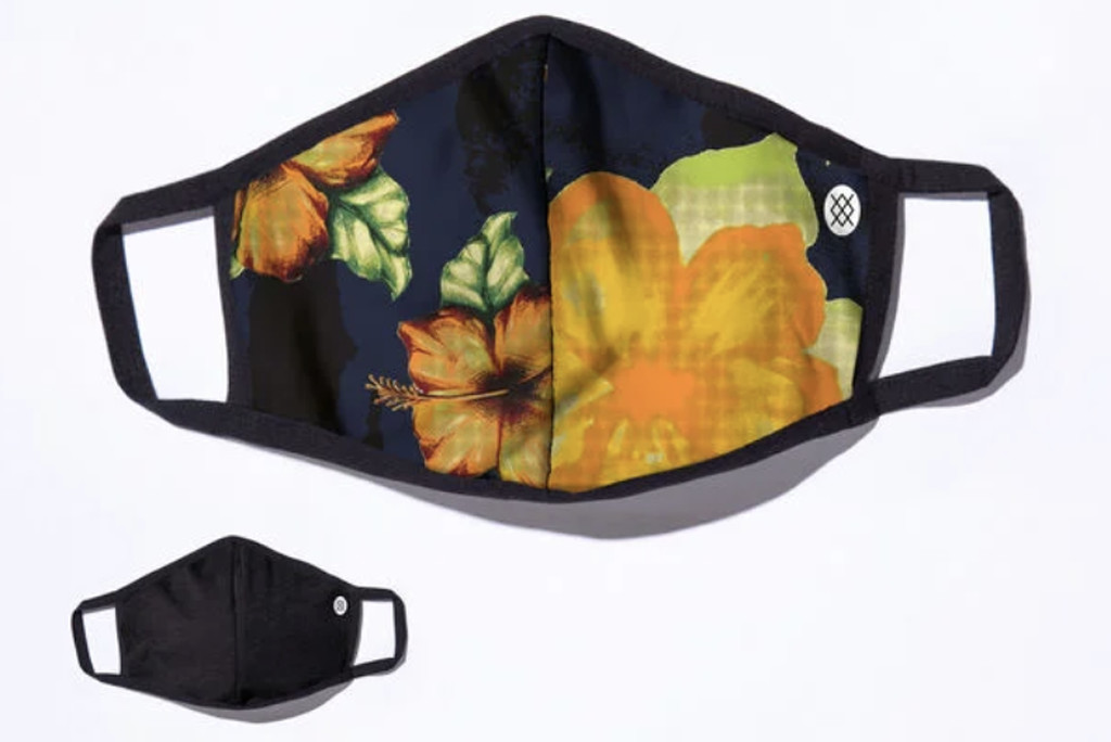 stance face mask, soft face mask, tropical print face mask