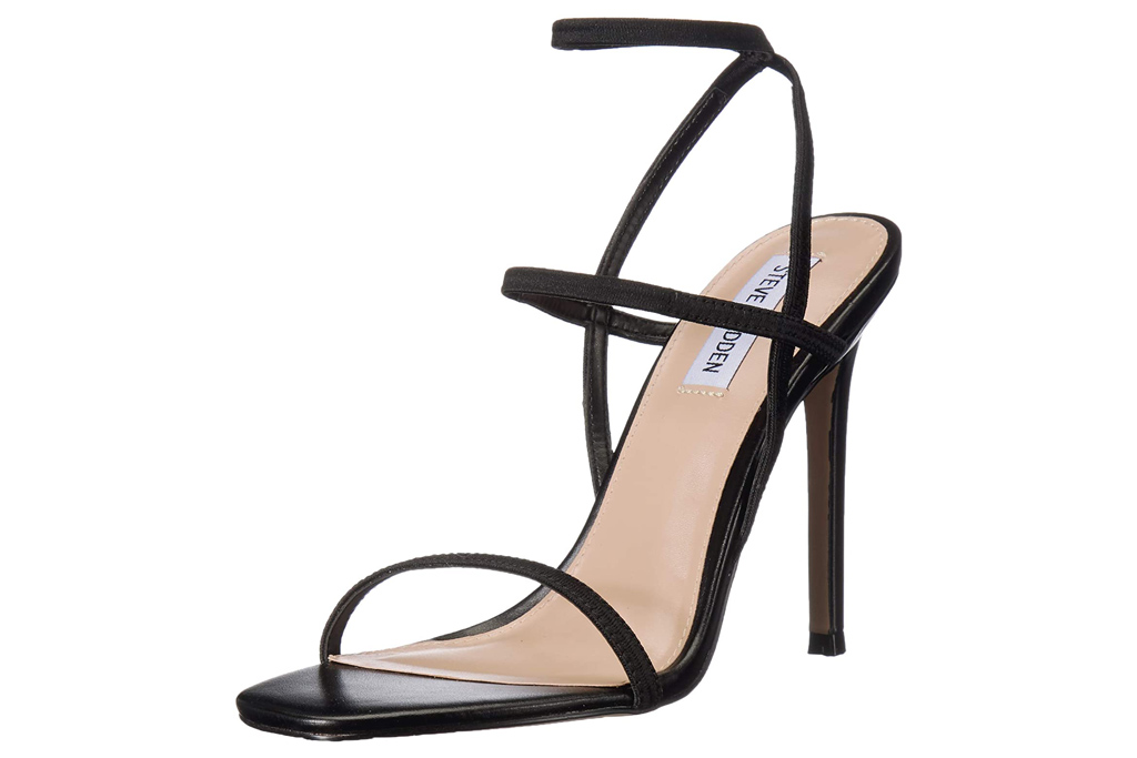 steve madden, sandals, black, heels, strappy
