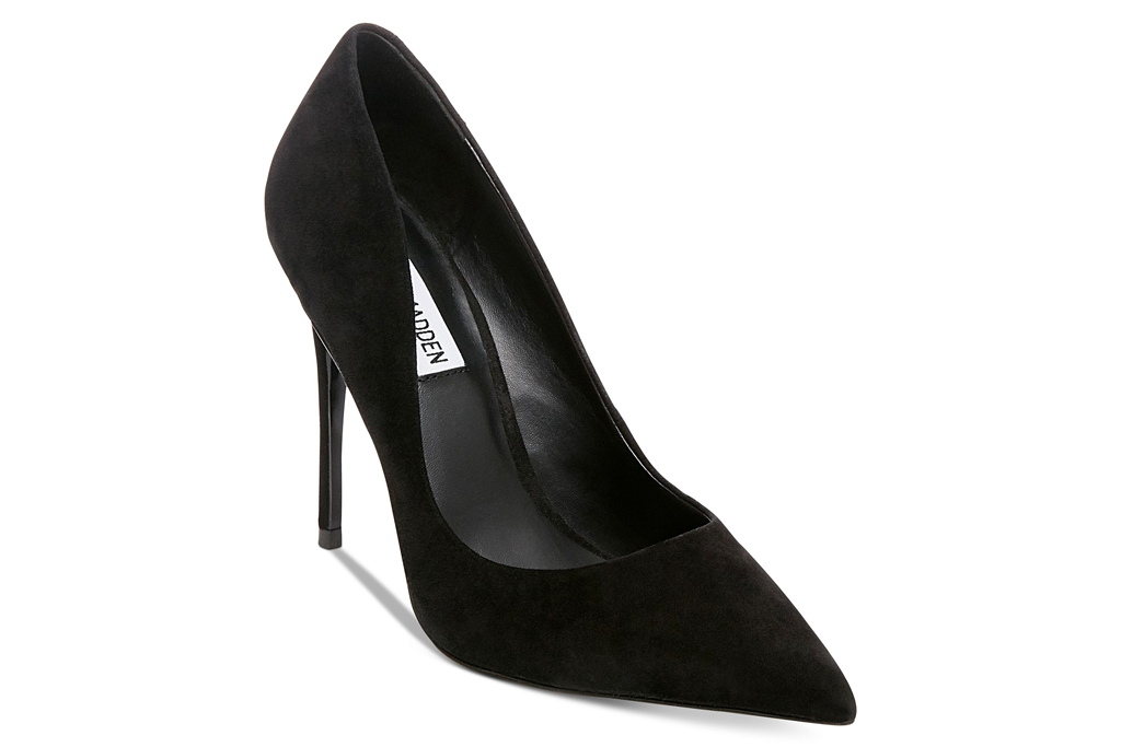 black pumps, suede, heels, steve madden