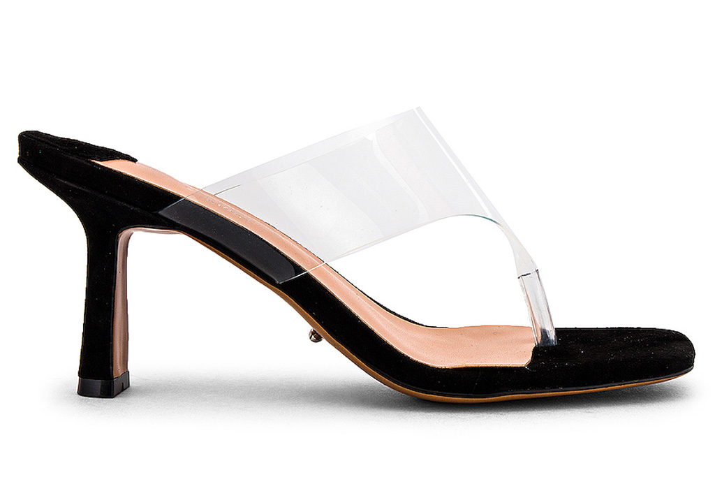 heels, black, pvc, mules, tony bianco