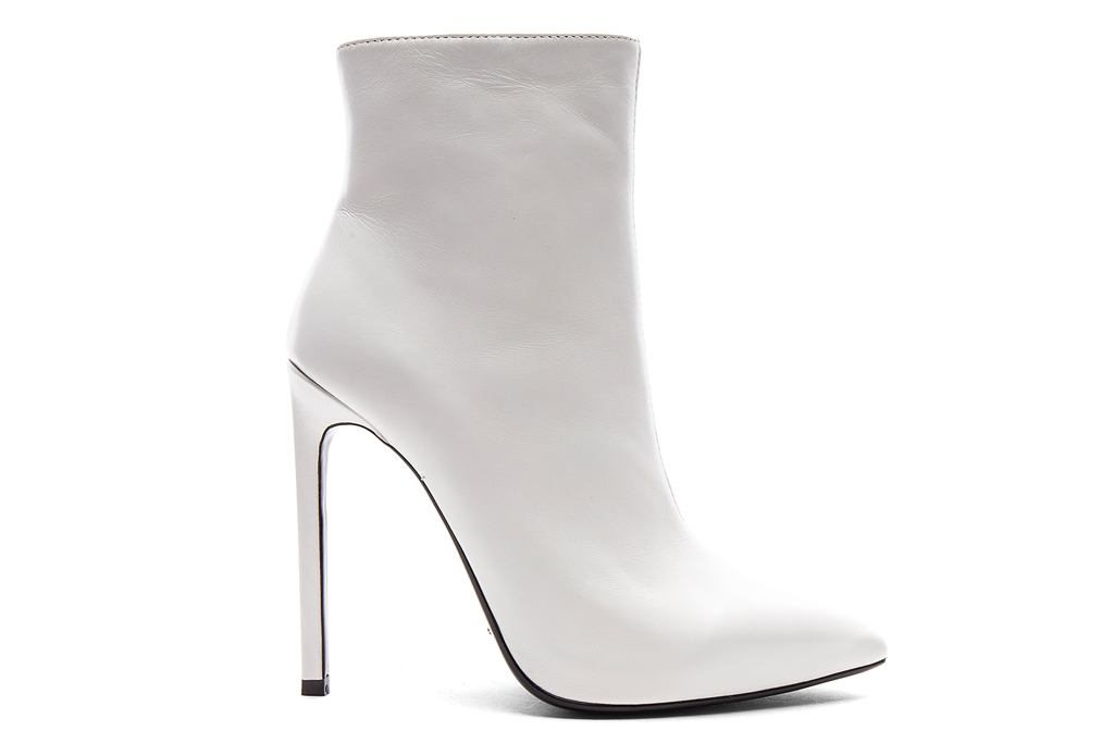 white, booties, pointed toe, heels, tony bianco