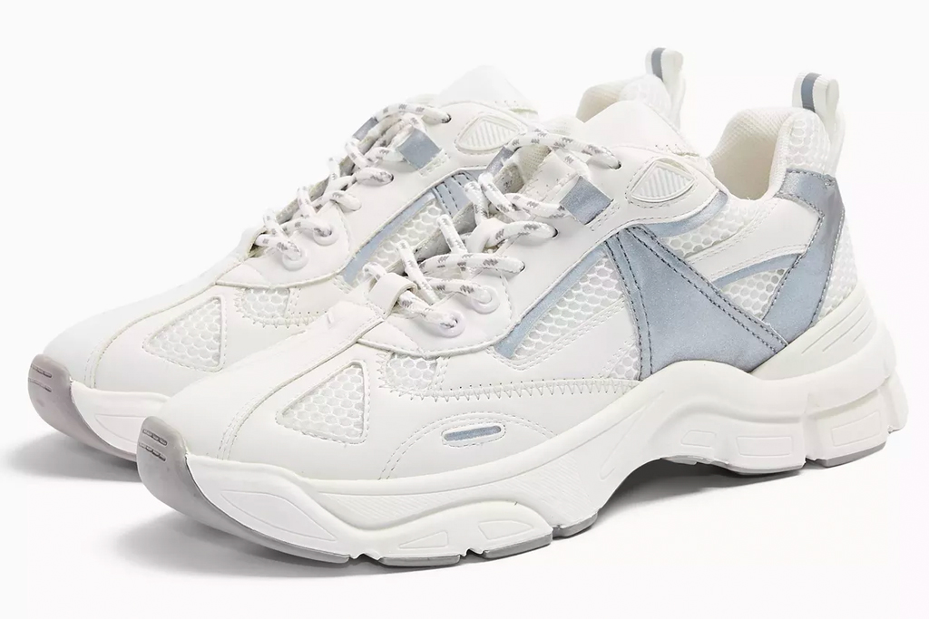 topshop, chunky sneakers, gray, white