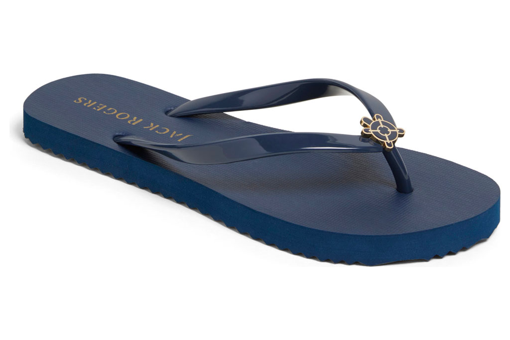 jack rogers, navy sandals, blue