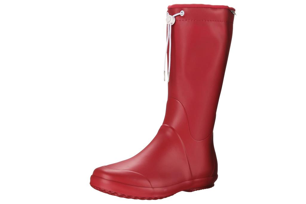 red boots, rain boots, tretorn