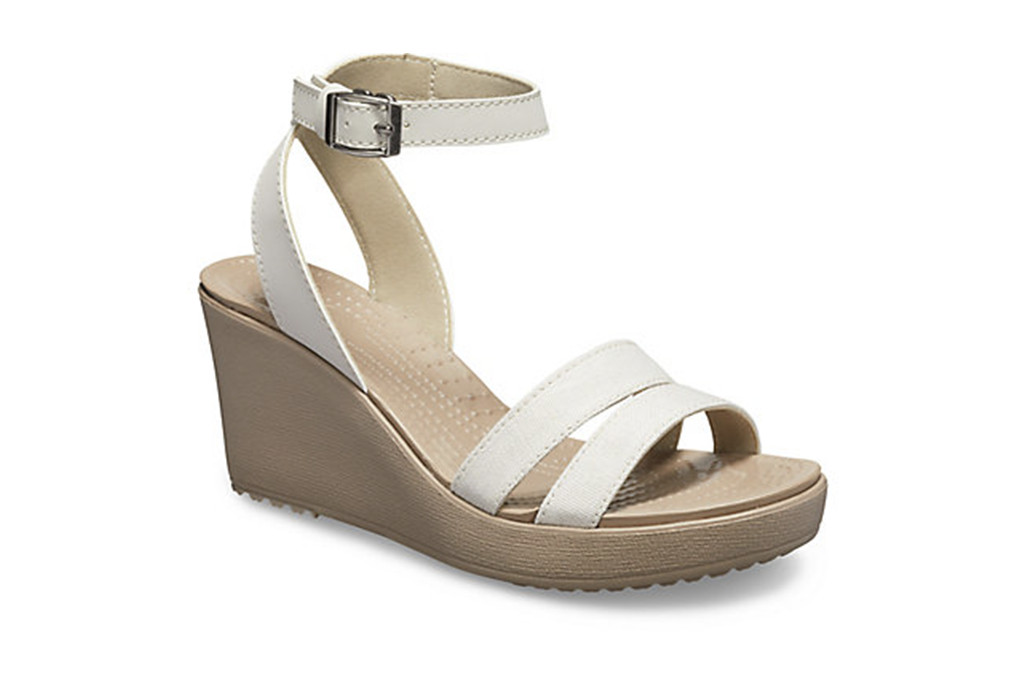 crocs, Women's Leigh Sandal Wedge, crocs sale