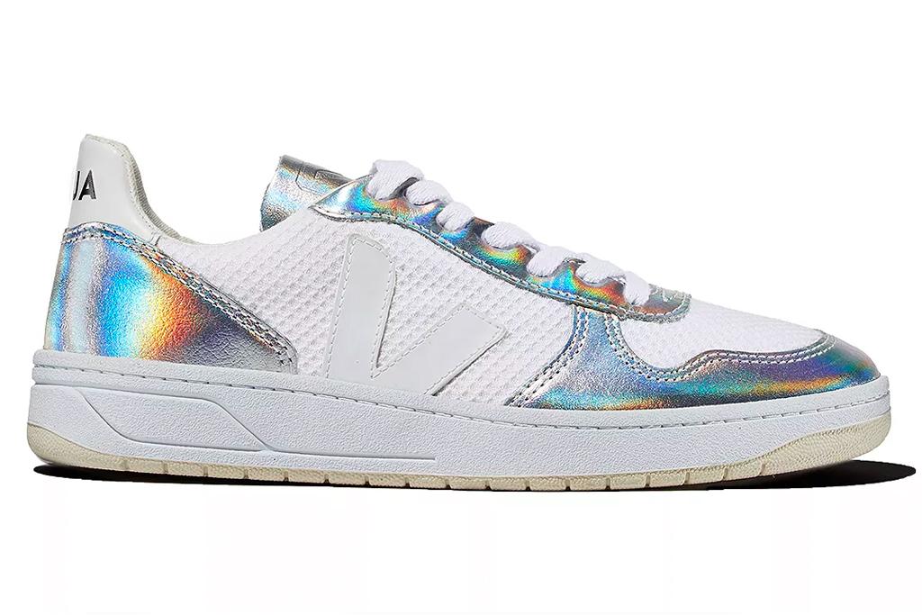 veja, sneakers, metallic, silver, white