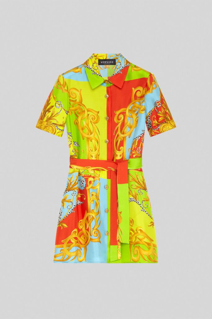versace kids, versace girls dress, versace dress, eva chen, mom and me fashion, designer kids clothes