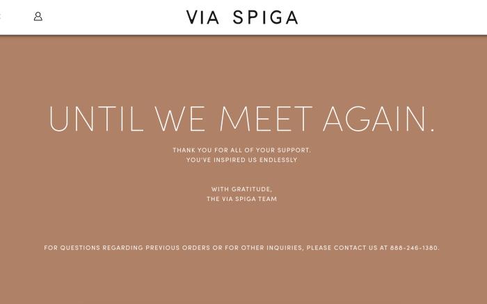 Via Spiga website