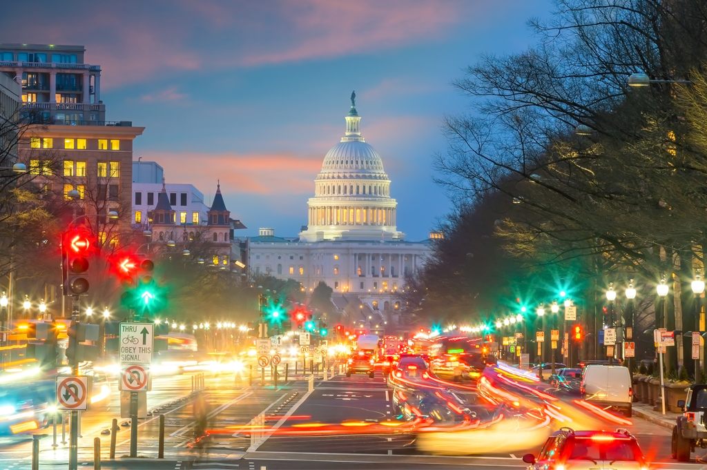 Washington DC Capitol Building Skyline