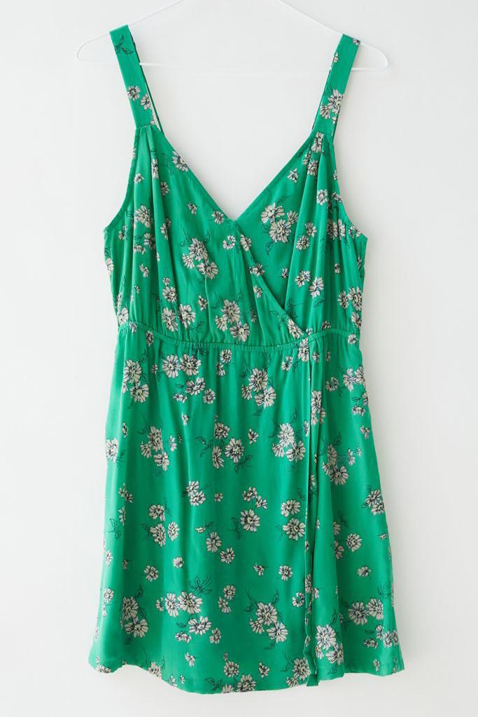 UO Summit Surplice Mini Dress, green dress, labor day sales