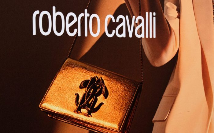 A shop sign of Roberto Cavalli in Paris, on April 9, 2020 in Paris, France. Photo by David Niviere/Abaca/Sipa USA(Sipa via AP Images)