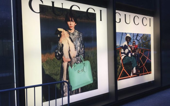Photo by: STRF/STAR MAX/IPx 2020 8/23/20 The Gucci store is seen on 5th Avenue in Manhattan. While many larger businesses have thrived, the smaller retail stores and restaurants have suffered greatly during the Coronavirus Pandemic.