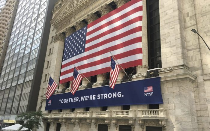 August 27th 2020 - The S&P 500 stock market index closed at an all-time high on Thursday, August 27, 2020 after The Federal Reserve signaled it will continue to stimulate the economy. - File Photo by: zz/STRF/STAR MAX/IPx 2020 7/6/20 Atmosphere in and around Wall Street and The New York Stock Exchange in the Financial District of Lower Manhattan, New York City on July 6, 2020 during the coronavirus pandemic amid the aftermath of protests, demonstrations, riots, vandalism and destruction of property in response to the death of George Floyd who died while being arrested by police officers in Minneapolis, Minnesota on May 25th. Here, The New York Stock Exchange Building. (NYC)