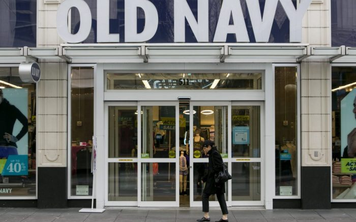 An Old Navy retail store in downtown Seattle, Washington, on January 3, 2015. Photo Credit: Kristoffer Tripplaar/ Sipa USA *** Please Use Credit from Credit Field ***