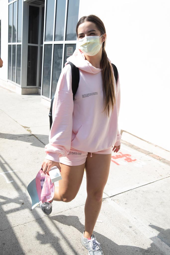 EXCLUSIVE: Addison Rae is spotted leaving a workout at Dogpound who recent made her Ellen Show debut. 25 Sep 2020 Pictured: Addison Rae. Photo credit: iamKevinWong.com / MEGA TheMegaAgency.com +1 888 505 6342 (Mega Agency TagID: MEGA703246_004.jpg) [Photo via Mega Agency]