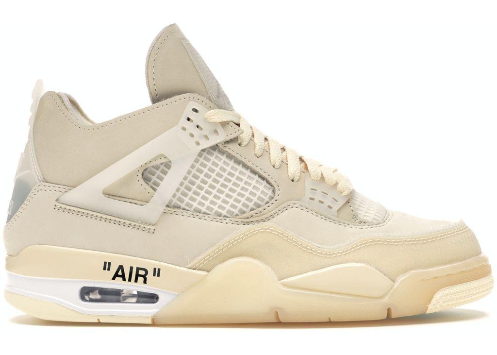 Air Jordan 4 Retro Off White Sail, off white sneakers, air jordan x off white
